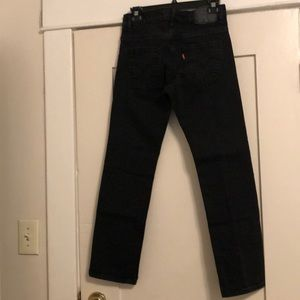 Washed Black Levi's Jeans